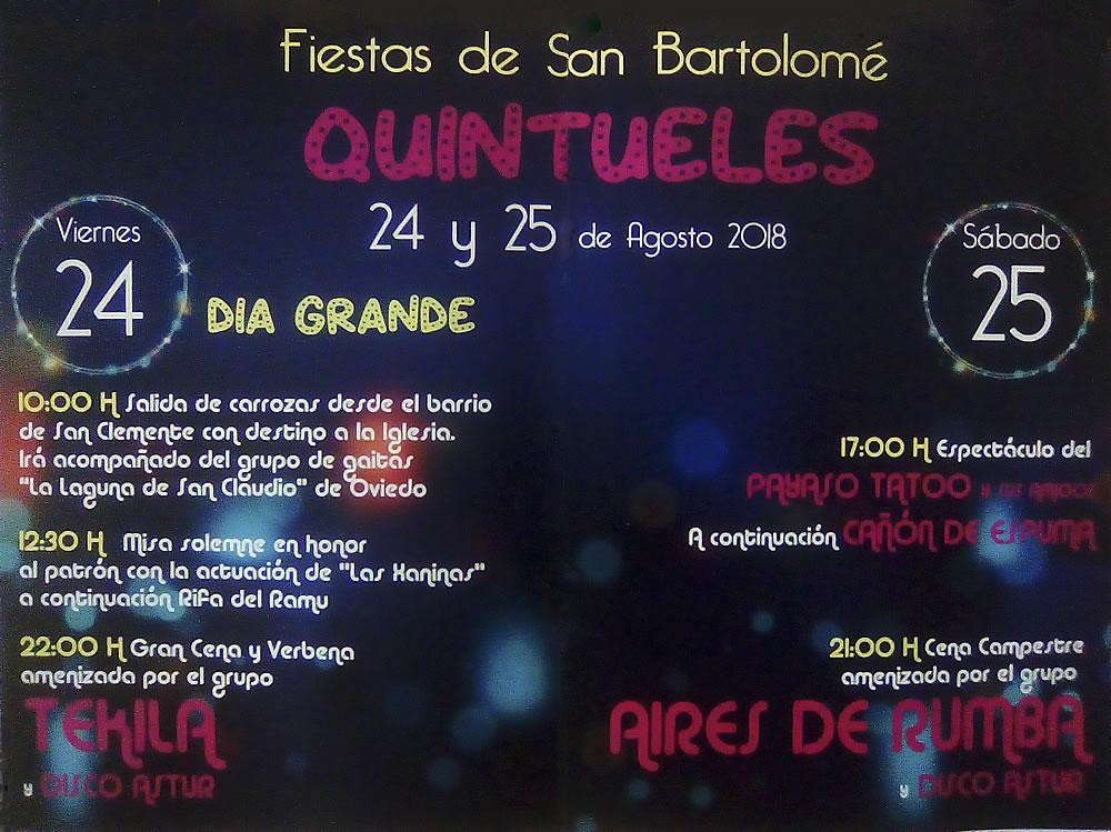 Fiesta San Bartolome 2018 en Quintueles @ Principado de Asturias | España