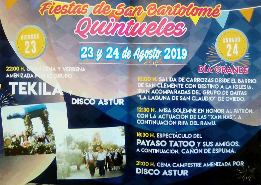 Fiestas de San Bartolomé Quintueles-2019 @ Quintueles | Principado de Asturias | España